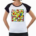 Interlocking Circles Women s Cap Sleeve T-Shirt (White)