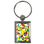 Interlocking Circles Key Chain (Rectangle)