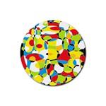 Interlocking Circles Drink Coasters 4 Pack (Round)