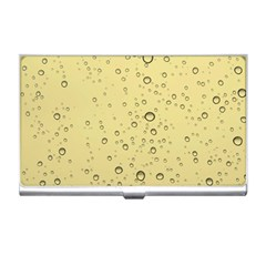 Yellow Water Droplets Business Card Holder by Colorfulart23