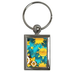 Musical Peace Key Chain (rectangle) by StuffOrSomething