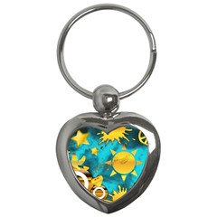 Musical Peace Key Chain (heart) by StuffOrSomething