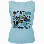 Just Bring Me Coffee Women s Tank Top (Baby Blue)
