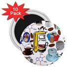 Just Bring Me Coffee 2.25  Button Magnet (10 pack)