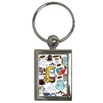 Just Bring Me Coffee Key Chain (Rectangle)