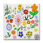 Summer Florals Ceramic Tile