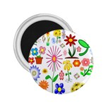 Summer Florals 2.25  Button Magnet