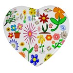 Summer Florals Heart Ornament