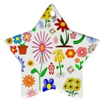 Summer Florals Star Ornament