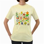 Summer Florals Women s T-shirt (Yellow)