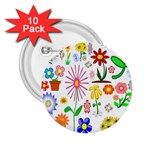 Summer Florals 2.25  Button (10 pack)