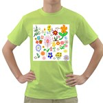 Summer Florals Men s T-shirt (Green)