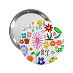 Summer Florals Handbag Mirror (2.25 )