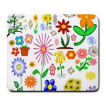 Summer Florals Large Mouse Pad (Rectangle)
