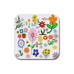 Summer Florals Drink Coaster (Square)