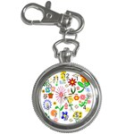 Summer Florals Key Chain Watch