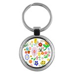 Summer Florals Key Chain (Round)