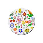 Summer Florals Drink Coaster (Round)