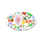 Summer Florals Sticker (Oval)