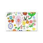 Summer Florals Sticker 100 Pack (Rectangle)