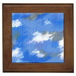 Abstract Clouds Framed Ceramic Tile