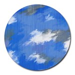 Abstract Clouds 8  Mouse Pad (Round)