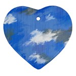 Abstract Clouds Heart Ornament
