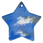 Abstract Clouds Star Ornament