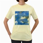 Abstract Clouds Women s T-shirt (Yellow)