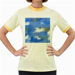 Abstract Clouds Women s Ringer T-shirt (Colored)