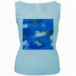 Abstract Clouds Women s Tank Top (Baby Blue)