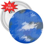 Abstract Clouds 3  Button (10 pack)