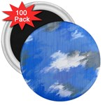 Abstract Clouds 3  Button Magnet (100 pack)