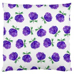 Purple Roses In Rows Large Cushion Case (two Sided)