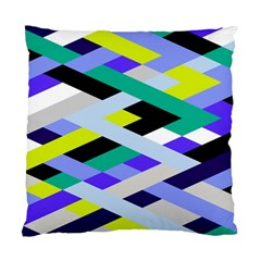 Smart Diagonals In Lime Cushion Case (single Sided)  by Contest1878042