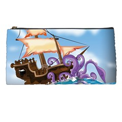 Piratepirate Ship Attacked By Giant Squid  Pencil Case by NickGreenaway