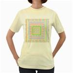 Layered Pastels Women s T-shirt (Yellow)