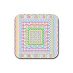 Layered Pastels Drink Coaster (Square)