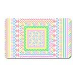 Layered Pastels Magnet (Rectangular)