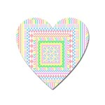 Layered Pastels Magnet (Heart)
