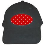 White Stars On Red Black Baseball Cap