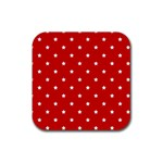 White Stars On Red Drink Coaster (Square)