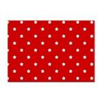 White Stars On Red A4 Sticker
