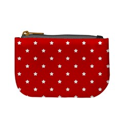 White Stars On Red Coin Change Purse by StuffOrSomething