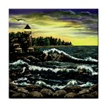 Cosgriff Point Lighthouse -AveHurley ArtRevu.com- Tile Coaster