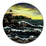 Cosgriff Point Lighthouse -AveHurley ArtRevu.com- Round Mousepad