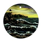 Cosgriff Point Lighthouse -AveHurley ArtRevu.com- Ornament (Round)