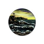 Cosgriff Point Lighthouse -AveHurley ArtRevu.com- Rubber Coaster (Round)