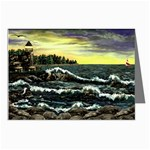 Cosgriff Point Lighthouse -AveHurley ArtRevu.com- Greeting Card