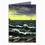 Cosgriff Point Lighthouse -AveHurley ArtRevu.com- Greeting Cards (Pkg of 8)